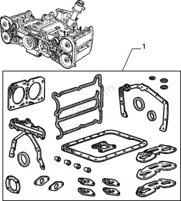 ALFA 33 1.7 16V, PAKKINGSET MOTOR